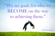 We set goals for who