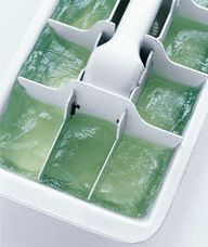 Frozen cubes of aloe
