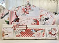 Pennys Vintage Home: Vintage Sewing Machine Drawer Repurposed into a Christmas Planner