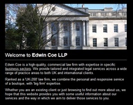 Edwin Coe advice and
