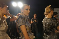 Backstage model at L
