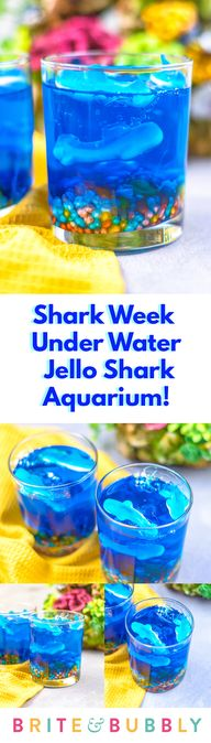 Check Out These #SharkWeek Under Water Jello Aquariums to celebrate Shark Week with! Theyre #ontheblog today!