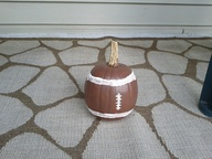 Football pumpkin pai