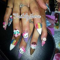 Kawaii nails by @nai