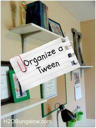 Organize a Tween Roo