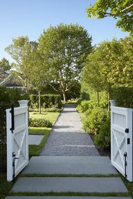 garden gate and path