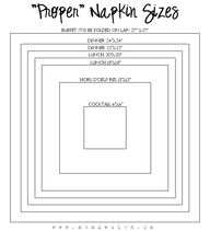 napkin sizes and tut