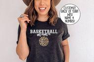 Custom Basketball Shirt, Basketball Shirt, Basketball Mama Shirt, Game Day Vibes Shirt, Game Day, Basketball Mama Shirt Plus Size