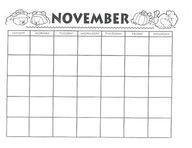 NOVEMBER Calendar an...