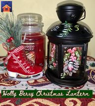 Holly Berry Christmas Lantern - lovemycottage