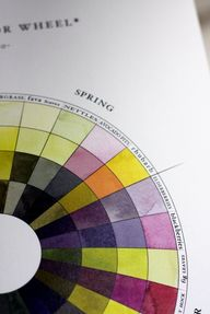Close up on Spring from The Seasonal Color Wheel: A Guide to Natural Dyes Made From Seasonal Foods. /via theKitch.com