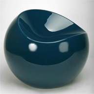 Ball Chair Bleu pétr