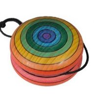 Rainbow Wooden Yo-Yo