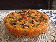 Savory Onion Corn Bread Recipe @ treatntrick.blogspot.com