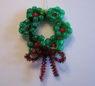 Beaded Wreath Orname
