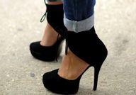 Black Suede Cutout A