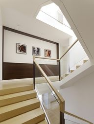 contemporary staircases | Hall with modern decoration and staircase