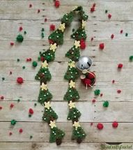 Crochet Christmas Tree Scarf - Sew Crafty Crochet