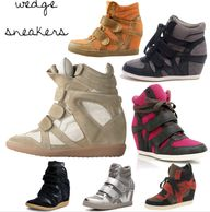 wedge sneakers - new