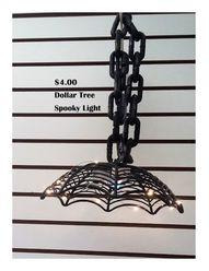 Coastal Bohemian: $4 Halloween Hanging Light #DIYHalloween #HalloweenCrafts