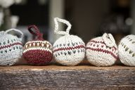 knit ornaments by aw