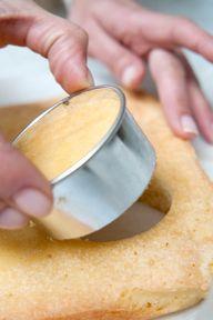 mini cake tutorial . . . chill cake before cutting to avoid crumbs