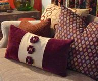 Embellish a pillow w
