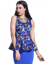 Floral Fantasy Peplum Top by Fate at AlibiOnline