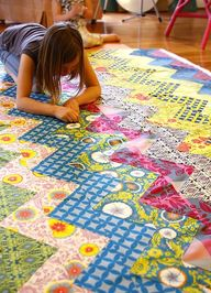 Free PDF for zig zag quilt pattern.
