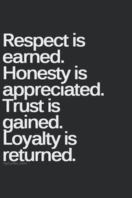 Respect, Honesty, Tr