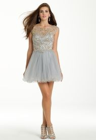 Beaded Tulle Party D