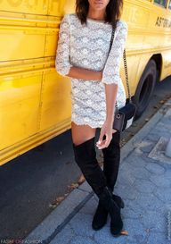 over the knee boots...