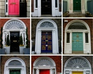 Irish Doors Collage