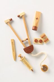 wooden doctor kit