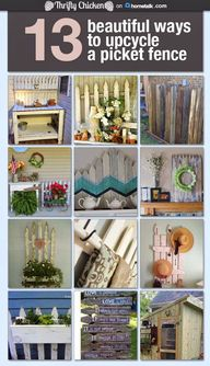 Learn how to repurpose your old fence. Repinned from www.craftproquo.com. #fences #repurposing #gardenprojects