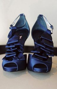 Navy Blue, Ruffled,