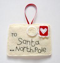 felt santa letter or