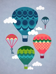 Hot air balloons by