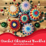 Crochet Christmas Baubles - Sew Crafty Crochet