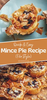 Yummy Recipes: Easy Filo Style Mince Pies - Who doesnt like pies? Everyone wants a scrummy pie! Nothing beats a freshly baked homemade mince pie that brings so many childhood memories. If you dont like the traditional mince pie, then you will love this smashing filo style mince pie. #mincepie #pies #filopie #pierecipes #projectpie