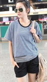 Blue Stripe Loose Sh