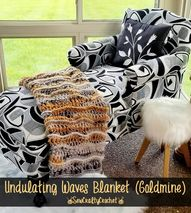 Goldmine Undulating Waves Blanket - Sew Crafty Crochet