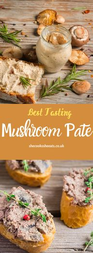 Yummy Recipes: Best Tasting Mushroom Pate- Got extra mushrooms? Why not try this easy mushroom pate. This homemade spread can be served with almost anything... try pairing it with your favorite bread, pie, or even crackers. #mushroom #mushroomrecipes #mushroompate #mushroomspread #mushroomfoodrecipes