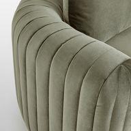 Vivienne Modular Sofa, Corner Sofa, Velvet Fern, UK - Soho Home