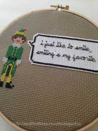 Elf cross stitch pat