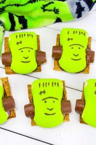 Easy Yummy Frankenstein S'mores!
