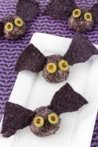 Halloween Cheese Ball Bat Treats!