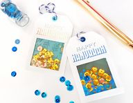 "Small Hanukkah Shaker Gift Tags - Just loaded some adorable ""Happy Hanukkah"" gift tags to the shop. Perfect way to make your gifts pop this year!"