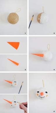 DIY Snowman Ornament