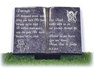 granite book with child imagery and verse.